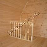 Бани брусовые 2й этаж - Брусовая дача