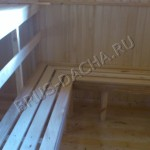 Полоки в бане из бруса - Брусовая дача