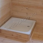 Поддон в перевозной бане из бруса - Брусовая дача