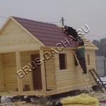 Кроем крышу в бане - Брусовая дача