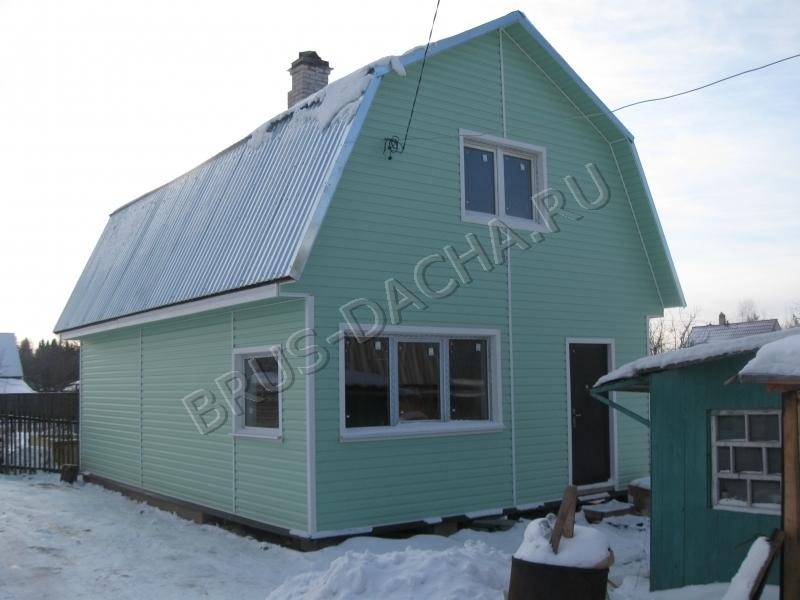 Построить брусовую дачу или дом из бруса отделанный вагонкой от «Брусовая дача»