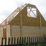 Дом из бруса в процессе строительства - Брусовая дача