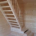 Строим лестницу в деревянном доме - Брусовая дача