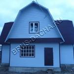 Брусовая дача - Деревянный дом из бруса одетый в вагонку