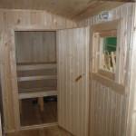 Брусовая дача - Внутреннее помещение перевозной бани
