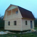 Достроен еще один дом из бруса