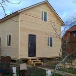 Достроили брусовый дом