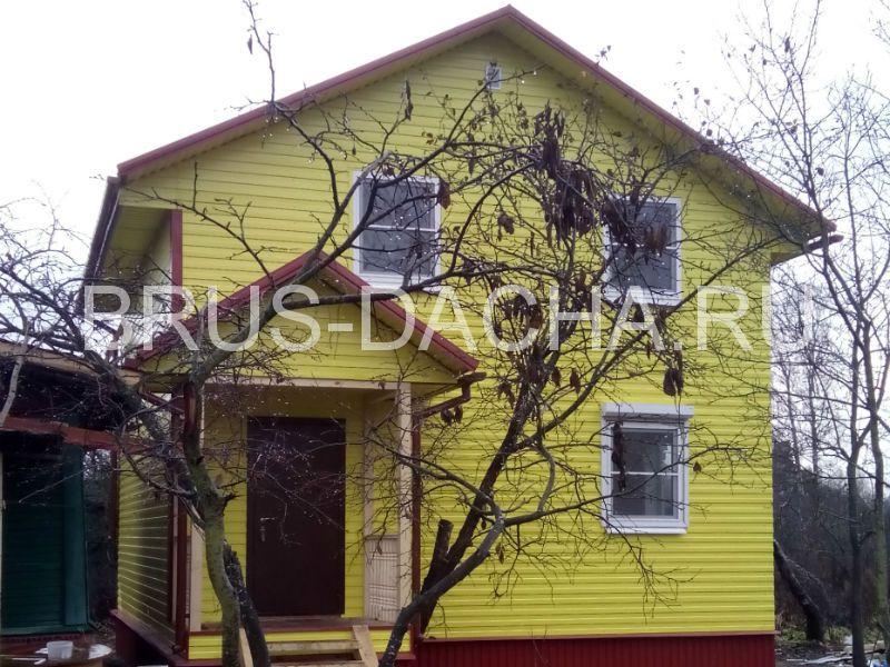 Дом двухэтажный каркасный «Брусовая дача»