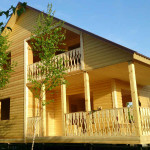 Дом каркас 40х150мм, снаружи - блокхаус