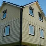 Дом каркасный 40х150мм, снаружи - блокхаус