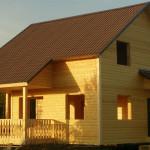 Новый дом, каркас 40х150мм, снаружи - блокхаус