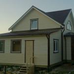 Новый дом каркасный 40х150мм, снаружи - блокхаус